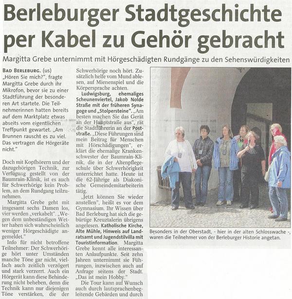 Berleburger Stadtgeschichte per Kabel zu Gehör gebracht