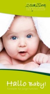 Flyer Hallo Baby - Kontakte für junge Familien