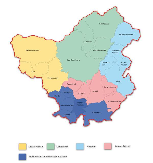 Karte - Stadt der Dörfer
