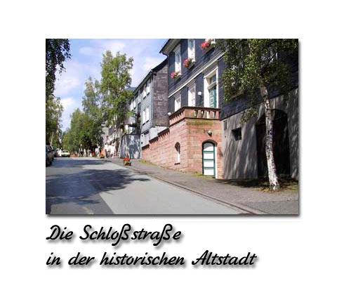 Die Schloßstraße in der historischen Altstadt