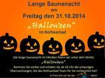 Plakat Lange Saunanacht Okt. 2014